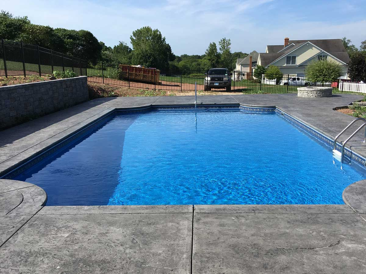 clean inground pool