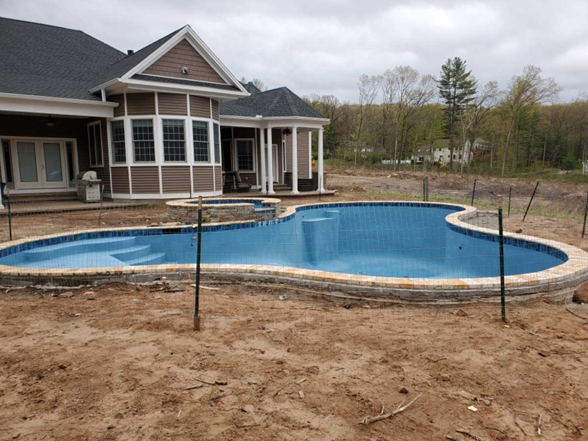beginning of building a pool