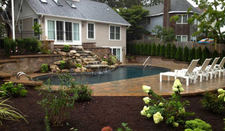 gardening around pool