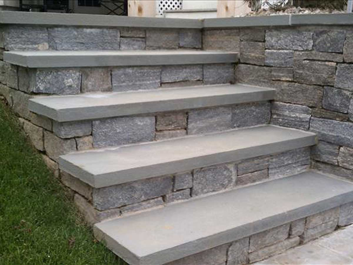 rock patio staircase