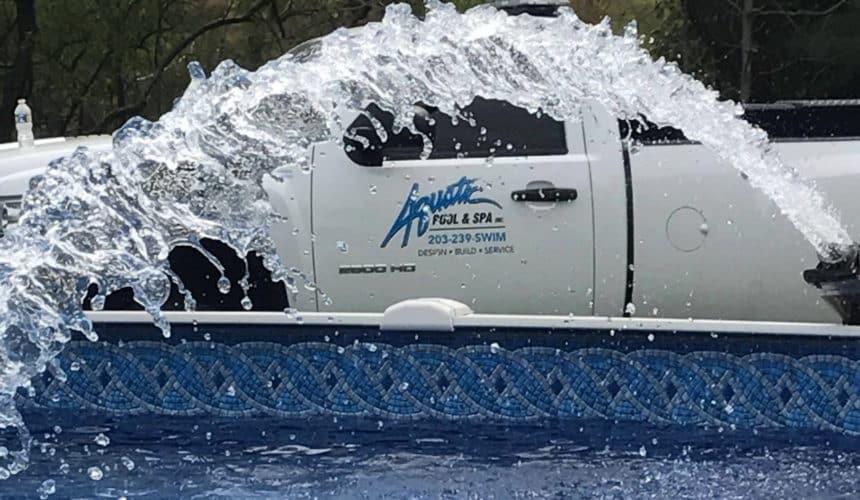 aquatic pool & spa truck