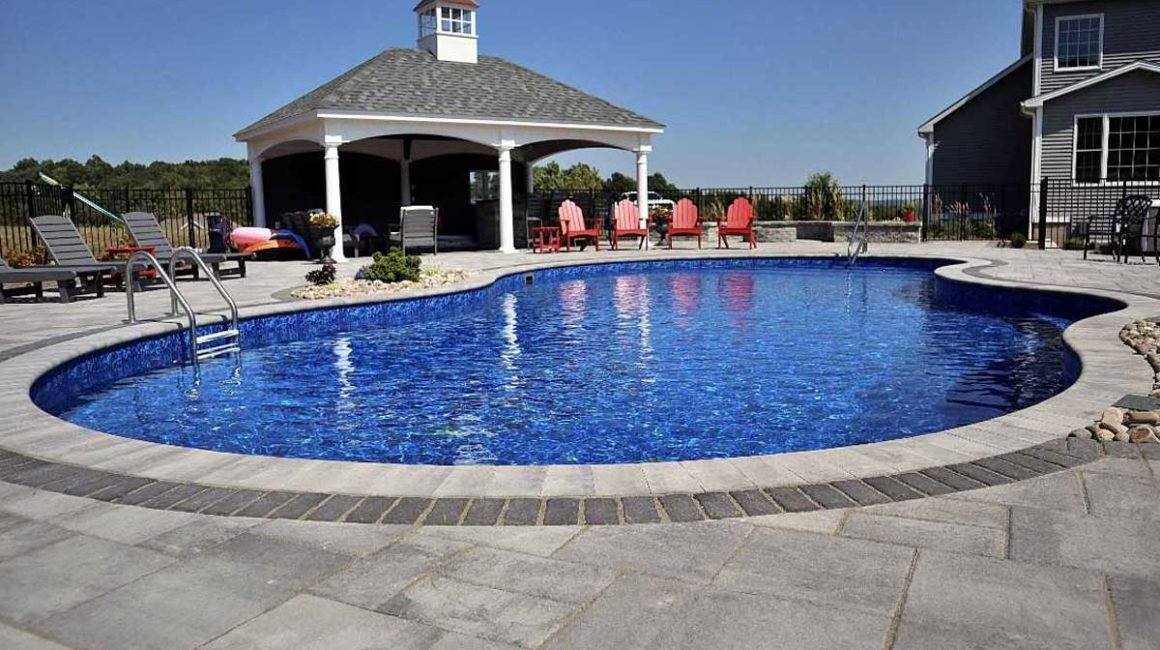 backyard vinyl liner pool