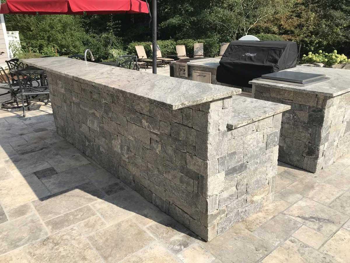 masonry on outdoor kitchen
