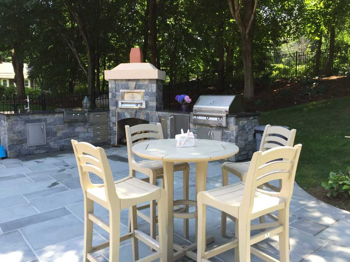 outdoor kitchen on new patio