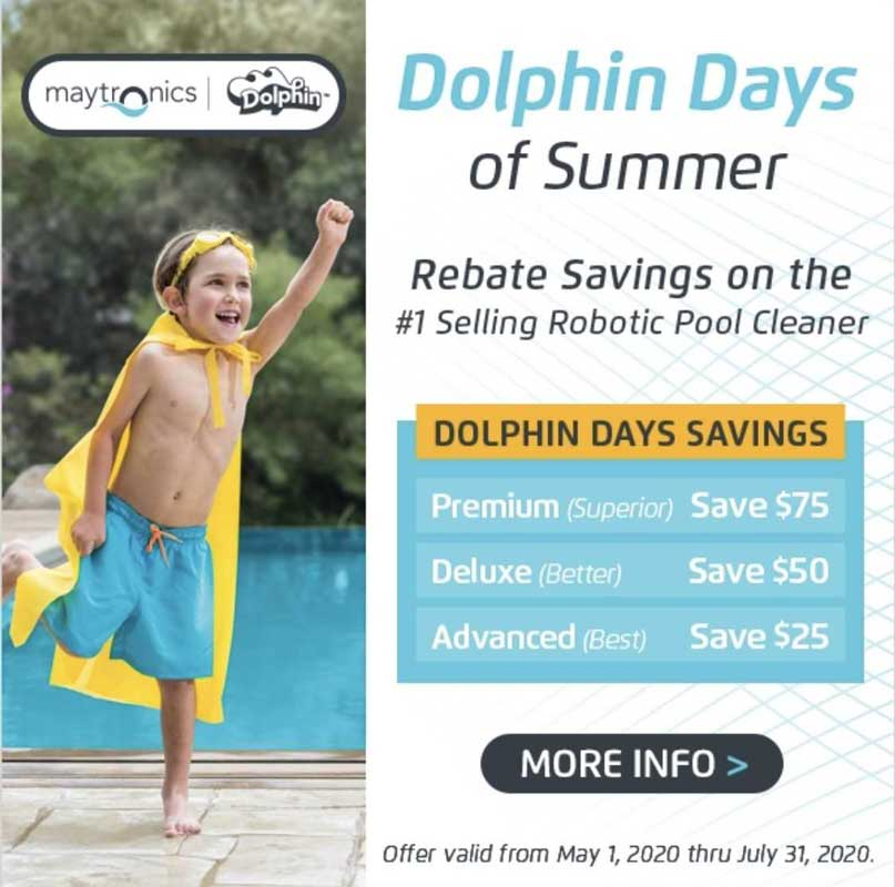 Savings for Dolphin robotic pool cleaner