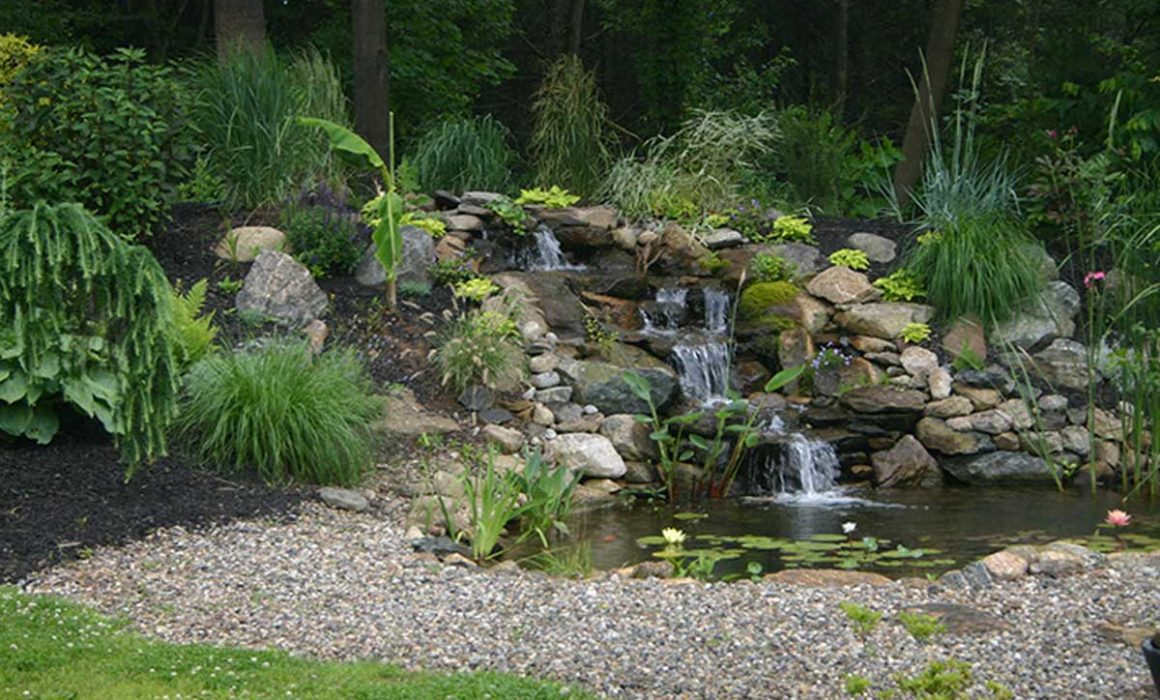 new landscaping-waterfall