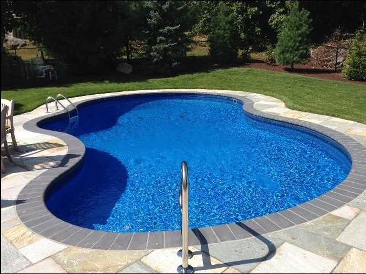 pool with new masonry