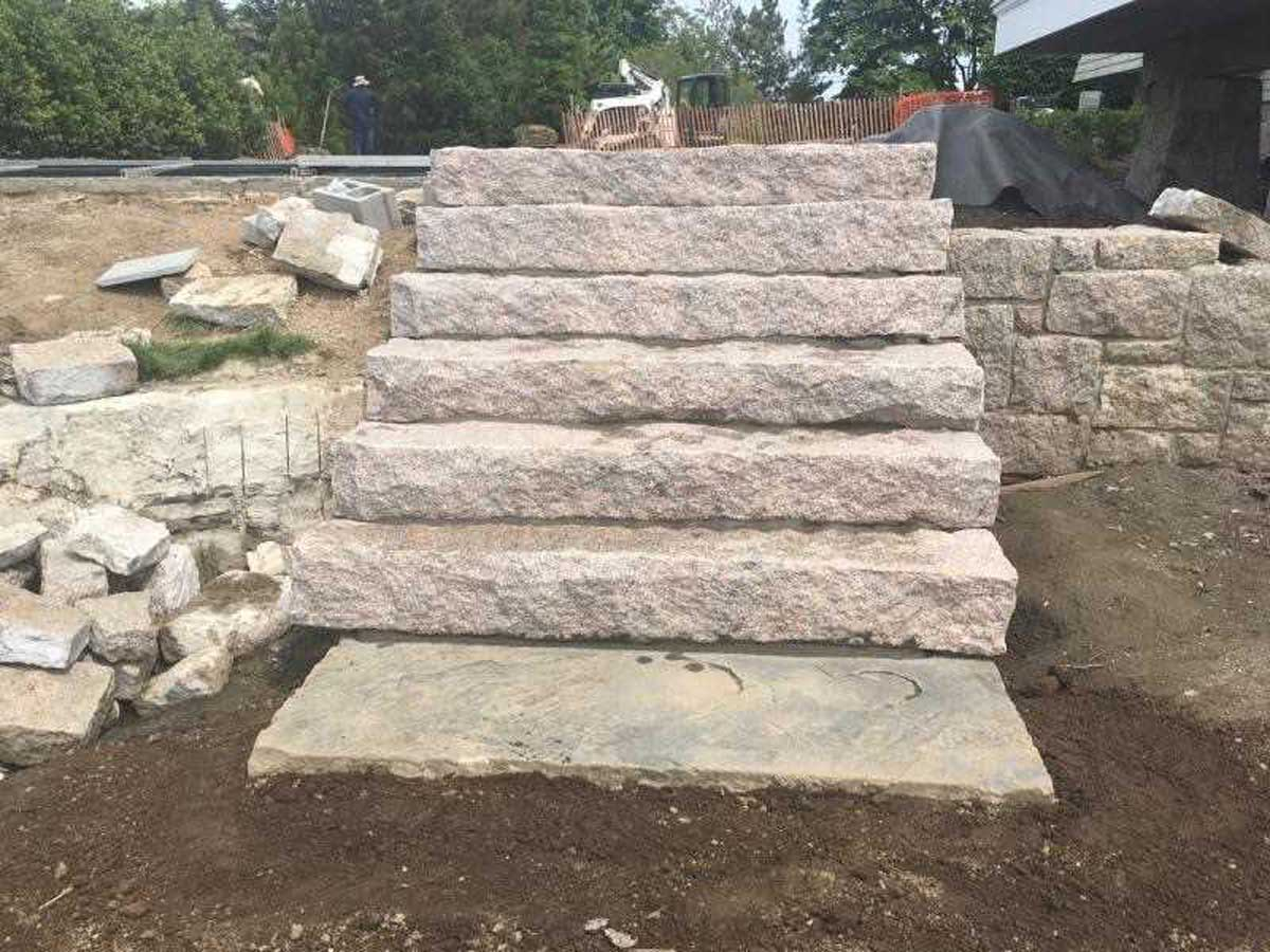outdoor rock staircase