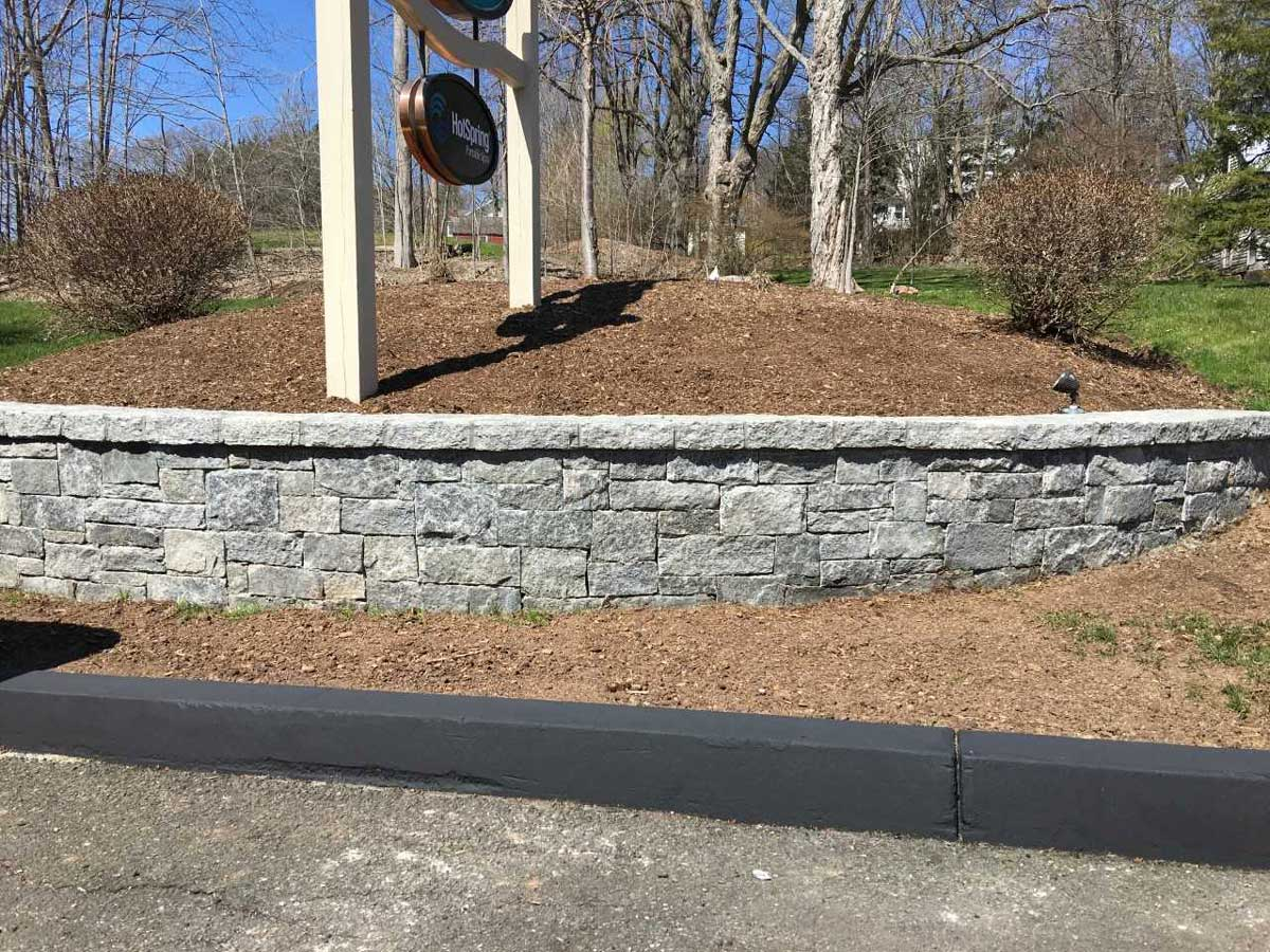 new landscaping masonry