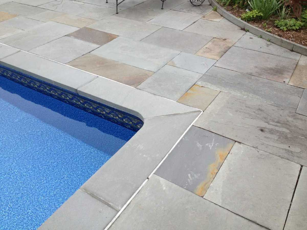 brand new pool patio
